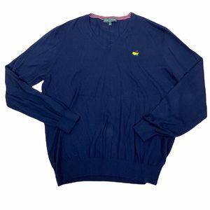 Masters golf cotton cashmere navy blue neck lightweight shirt sweater XL